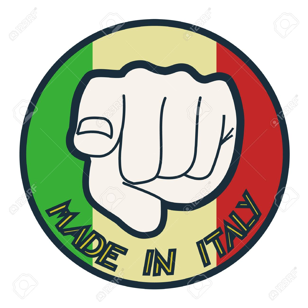 Made in Italy Stock Vector - 11955988