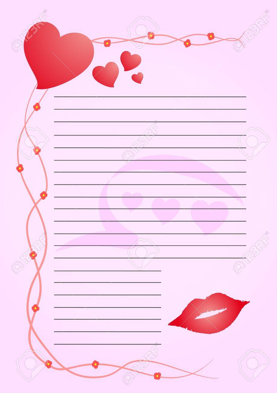 Creative Design Of Valentine Letter Royalty Free Cliparts Vectors