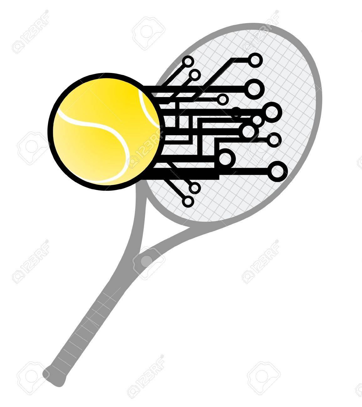Modern tennis Stock Vector - 12047980