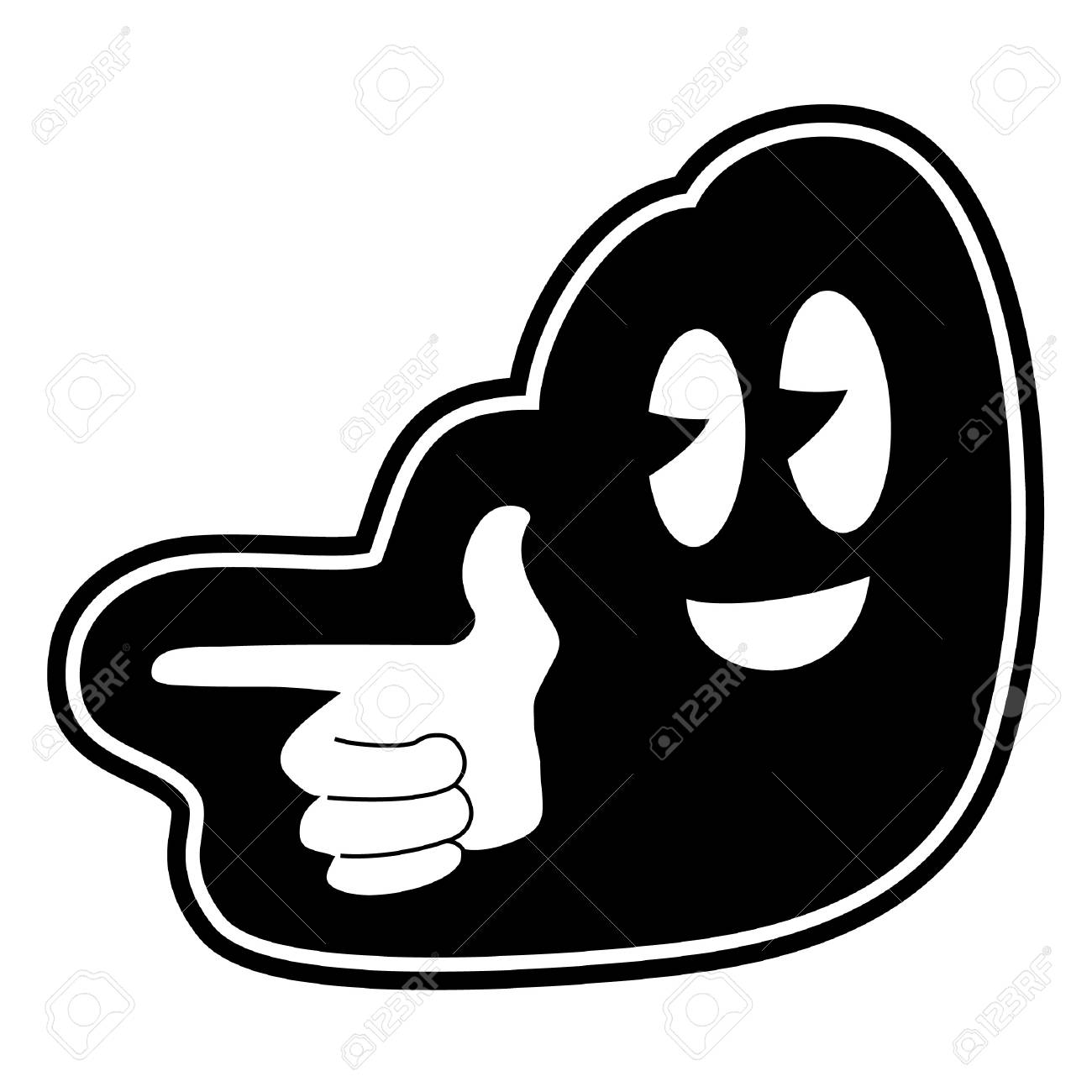 Pointing face icon Stock Vector - 12748139