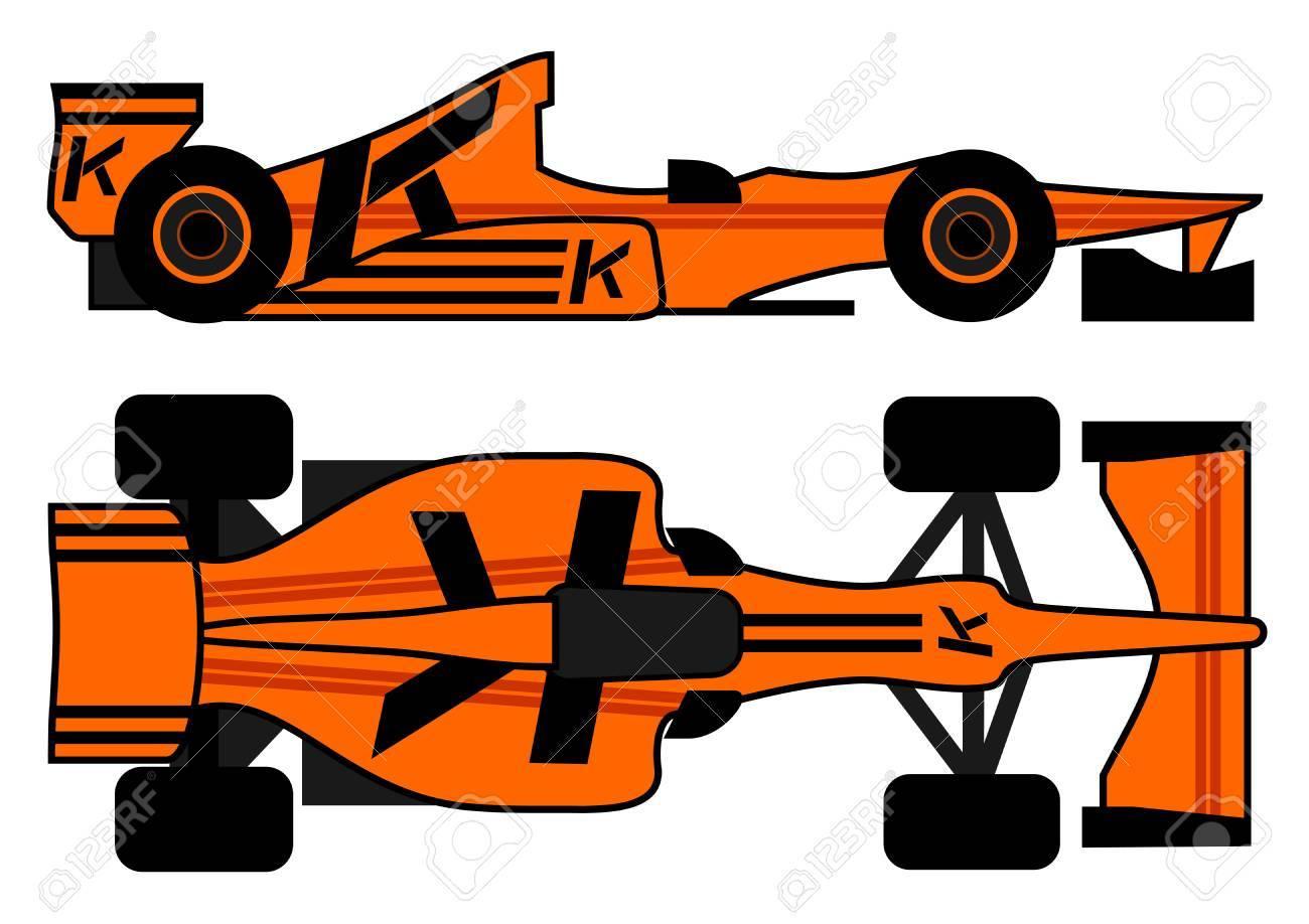 Racing organge car Stock Vector - 12748247
