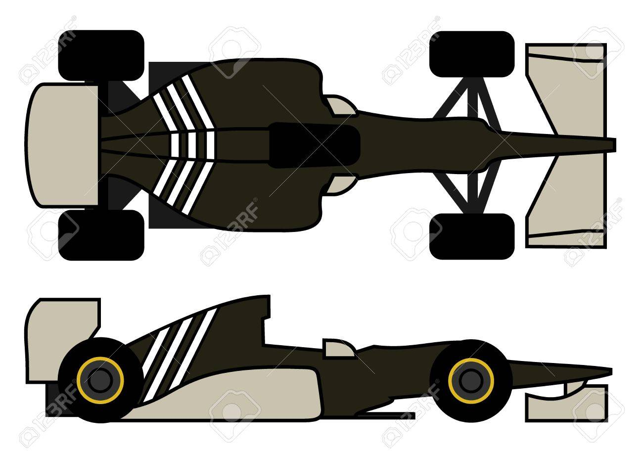Racing formula car Stock Vector - 13078741