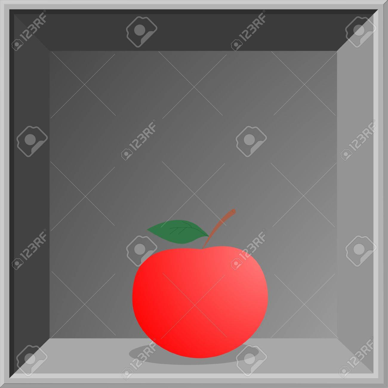 Apple frame museum Stock Vector - 13532504