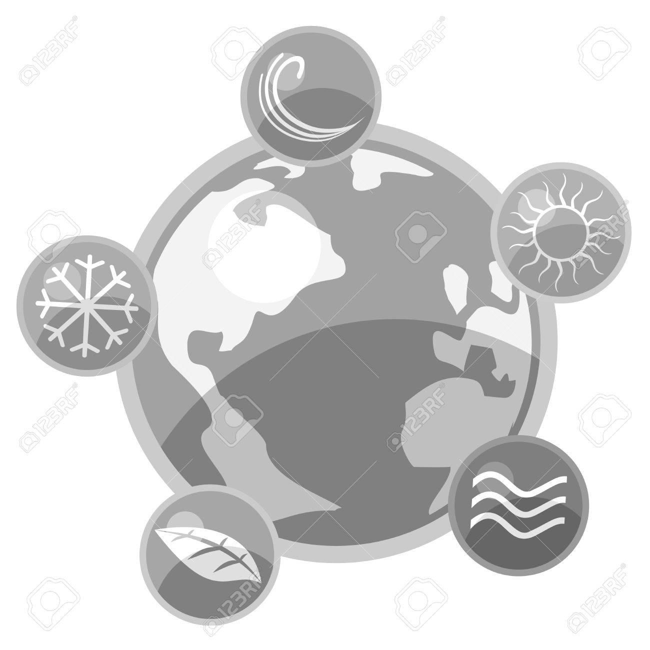 Art world nature icons Stock Vector - 13778278