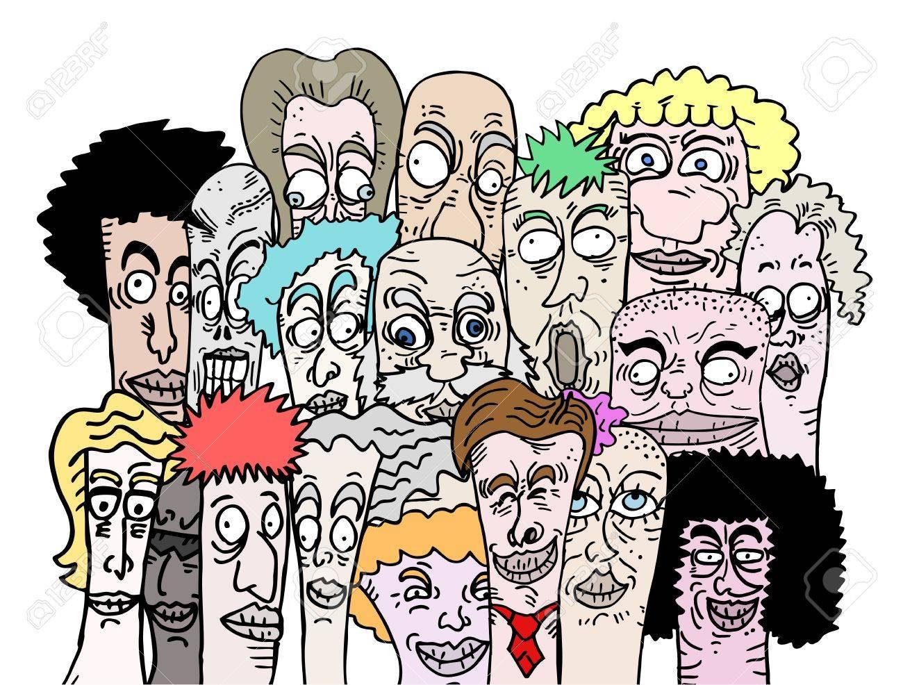Color cartoon art friends - 14996866