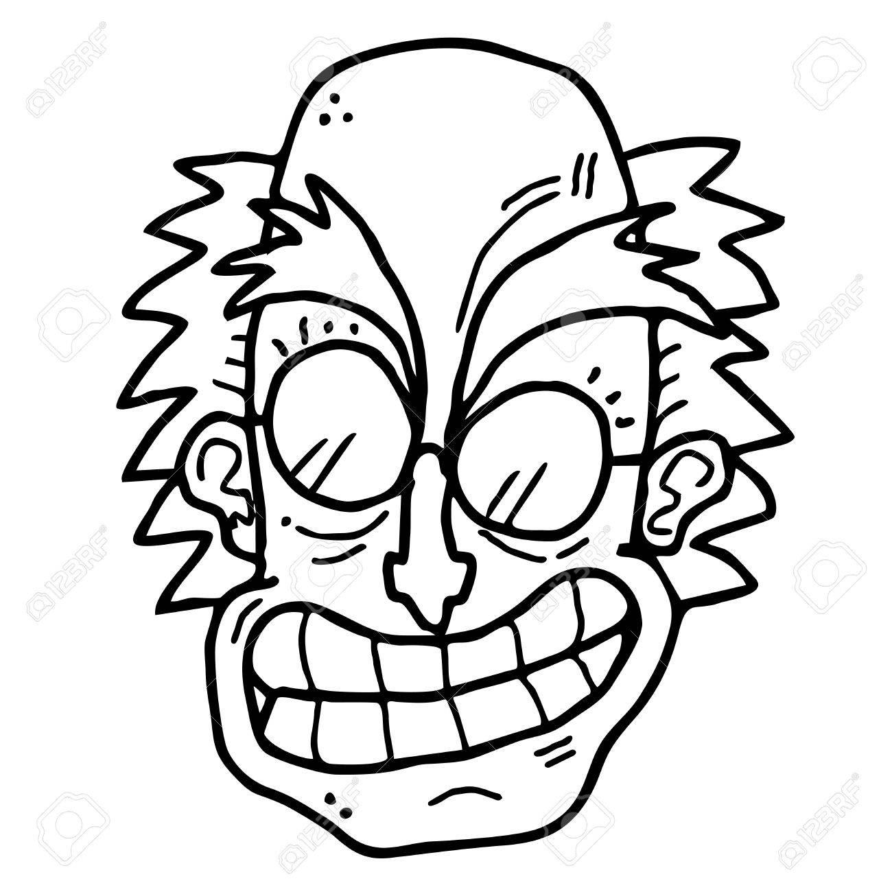 Funny cartoon face Stock Vector - 14996825