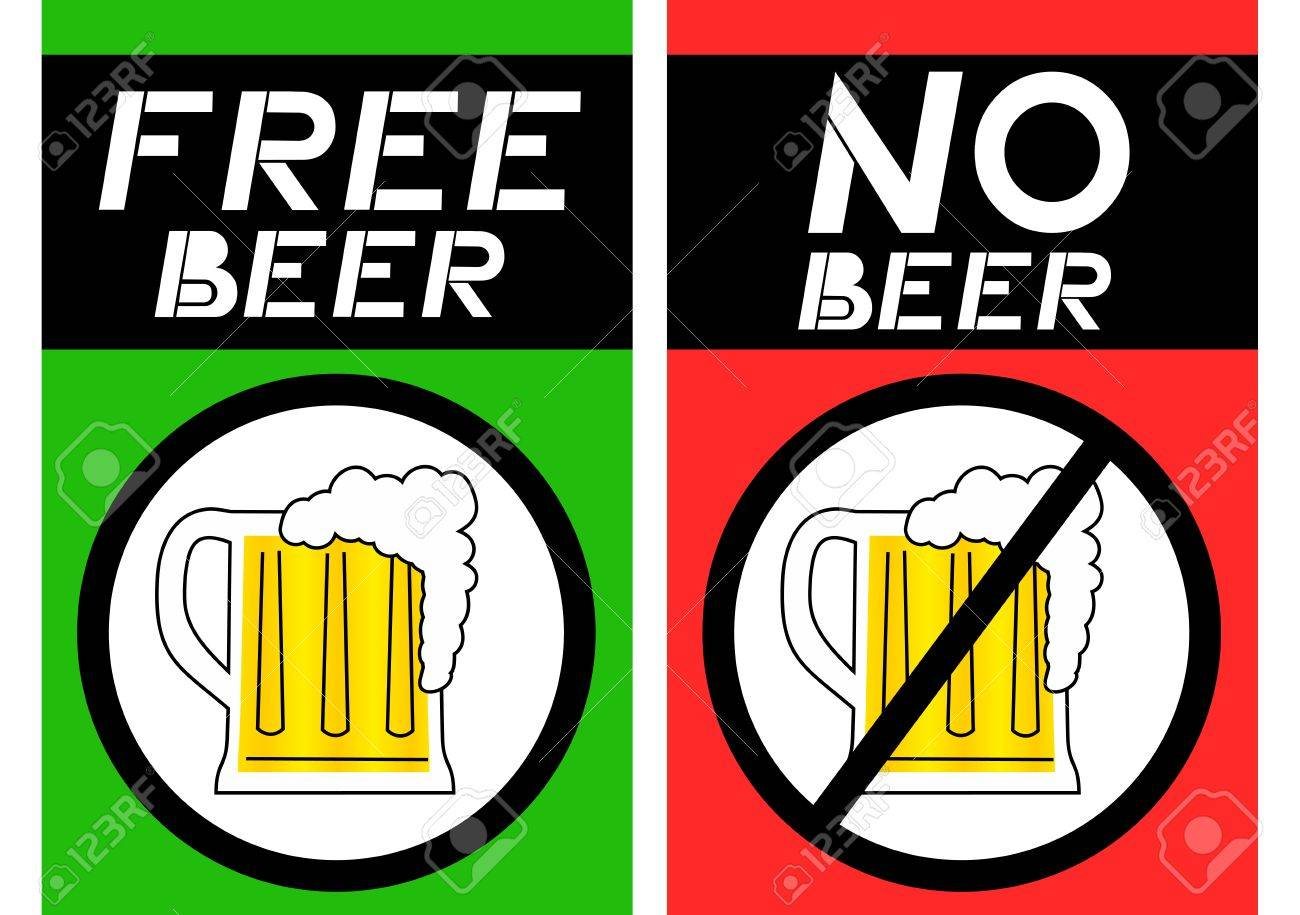 Free beer and no beer Stock Vector - 15005793