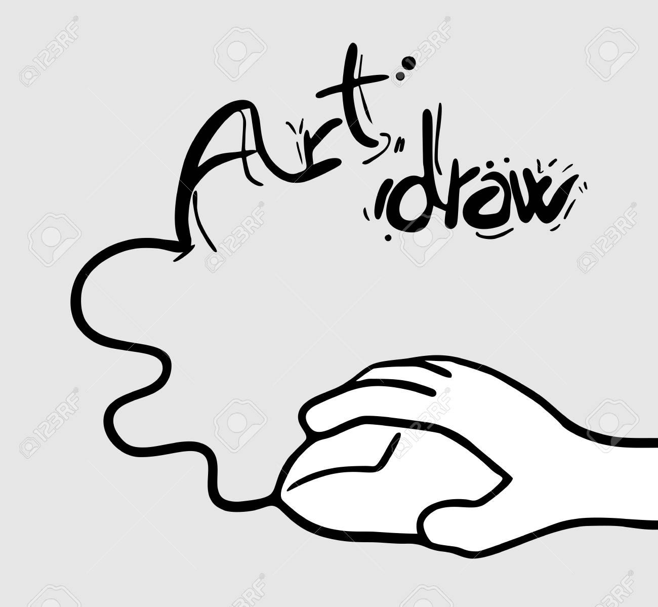 Computer art draw Stock Vector - 15292409