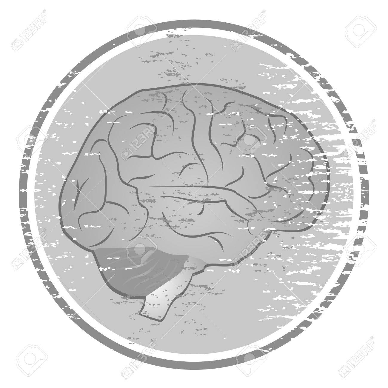 Vintage brain icon Stock Vector - 15291986