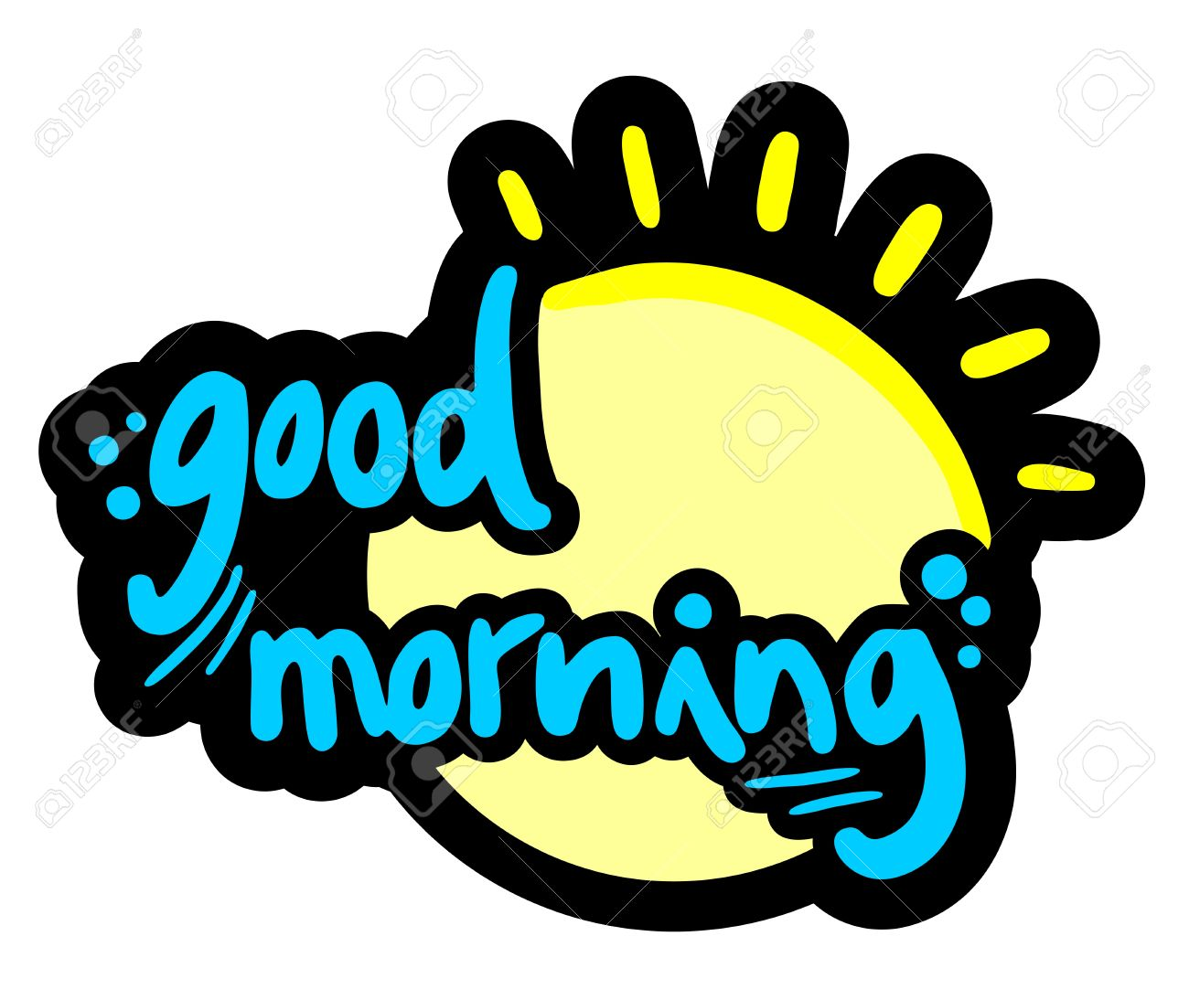 good morning sun design royalty free cliparts vectors and stock rh 123rf com good morning colorado good morning logo images