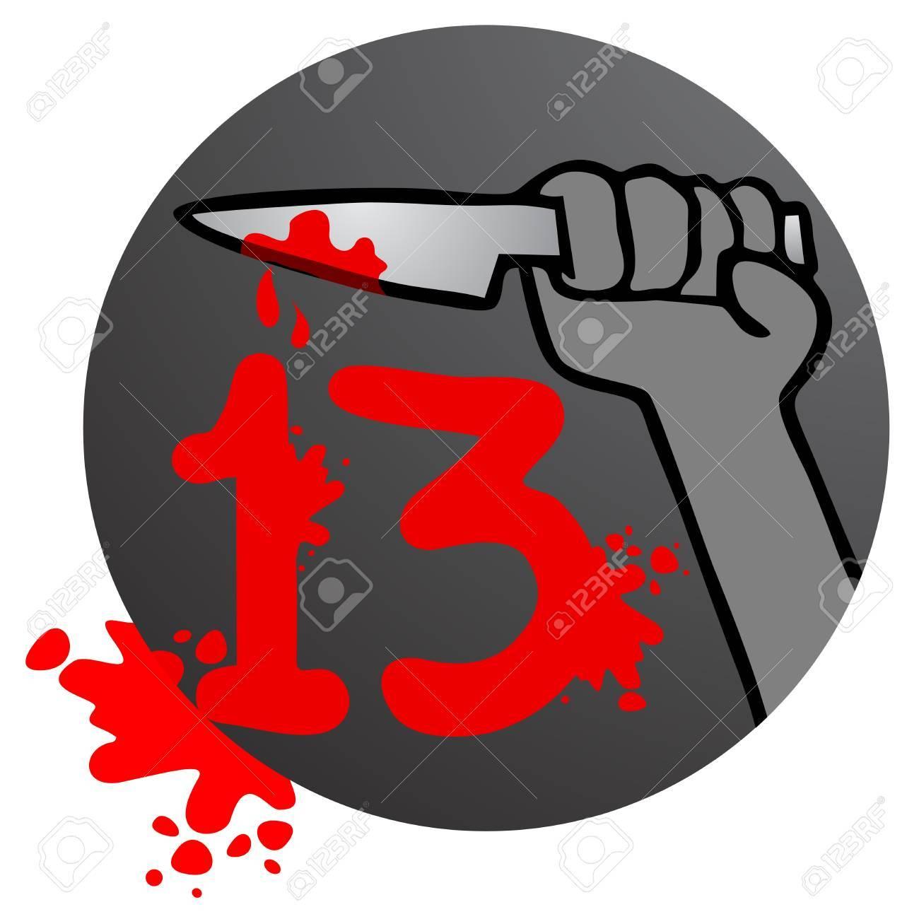 Horror 13 blood Stock Vector - 16622119