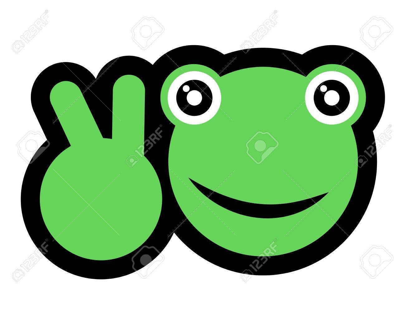 Happy frog Stock Vector - 16718250