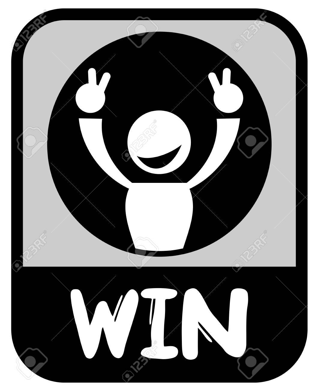 Win emblem Stock Vector - 16718273