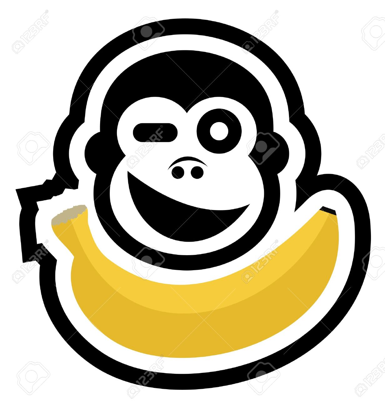Hungry gorilla Stock Vector - 16718307