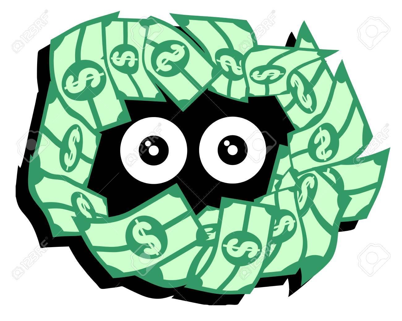 Money eyes Stock Vector - 16816391