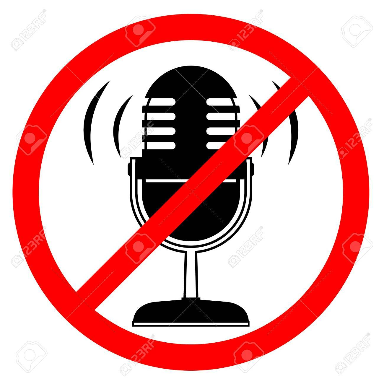 No sound Stock Vector - 16974130