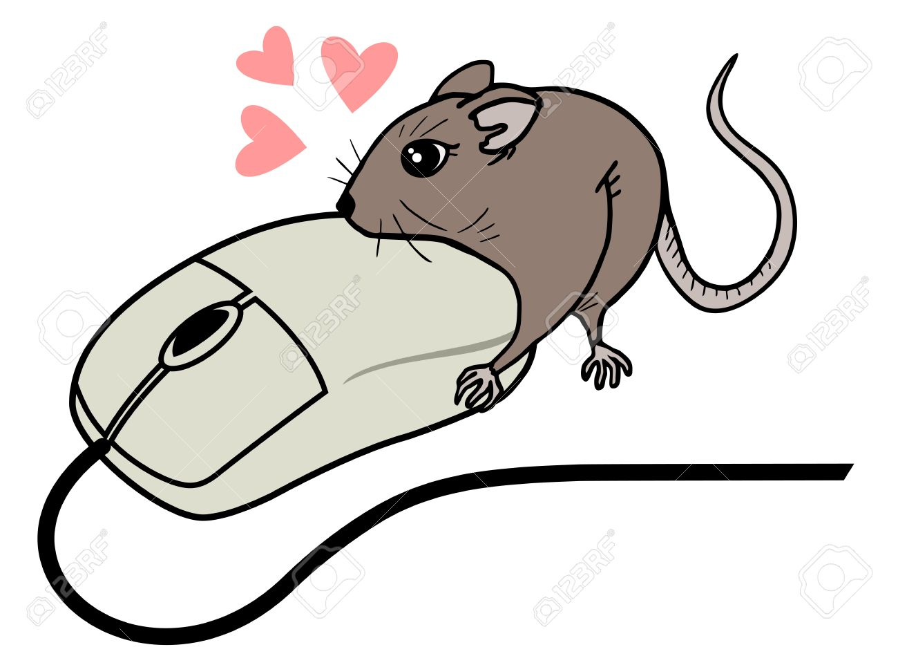 Uncategorized Draw Mouse funny computer mouse draw royalty free cliparts vectors and stock vector 16974337