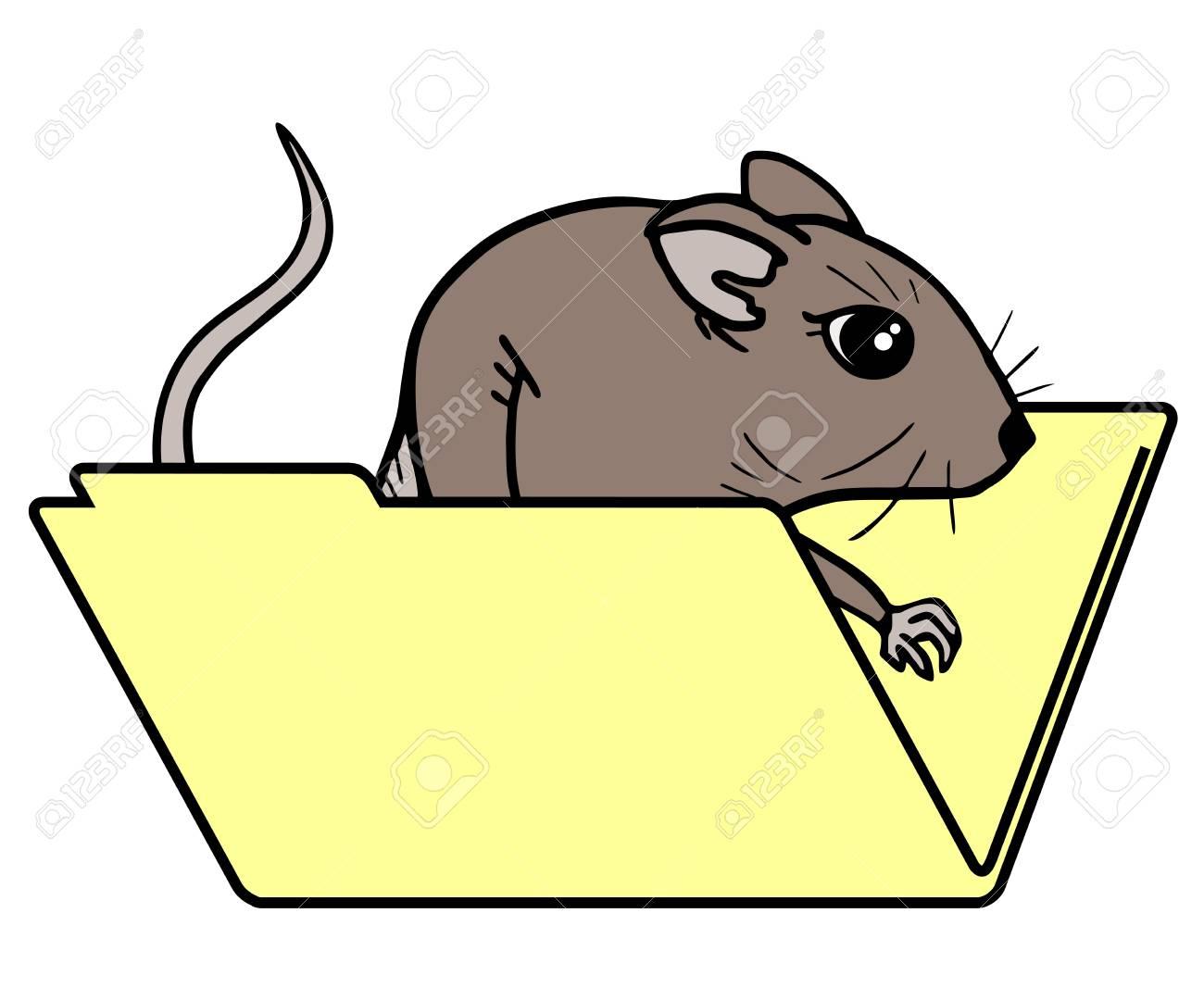 Fuuny mouse folder Stock Vector - 16974326