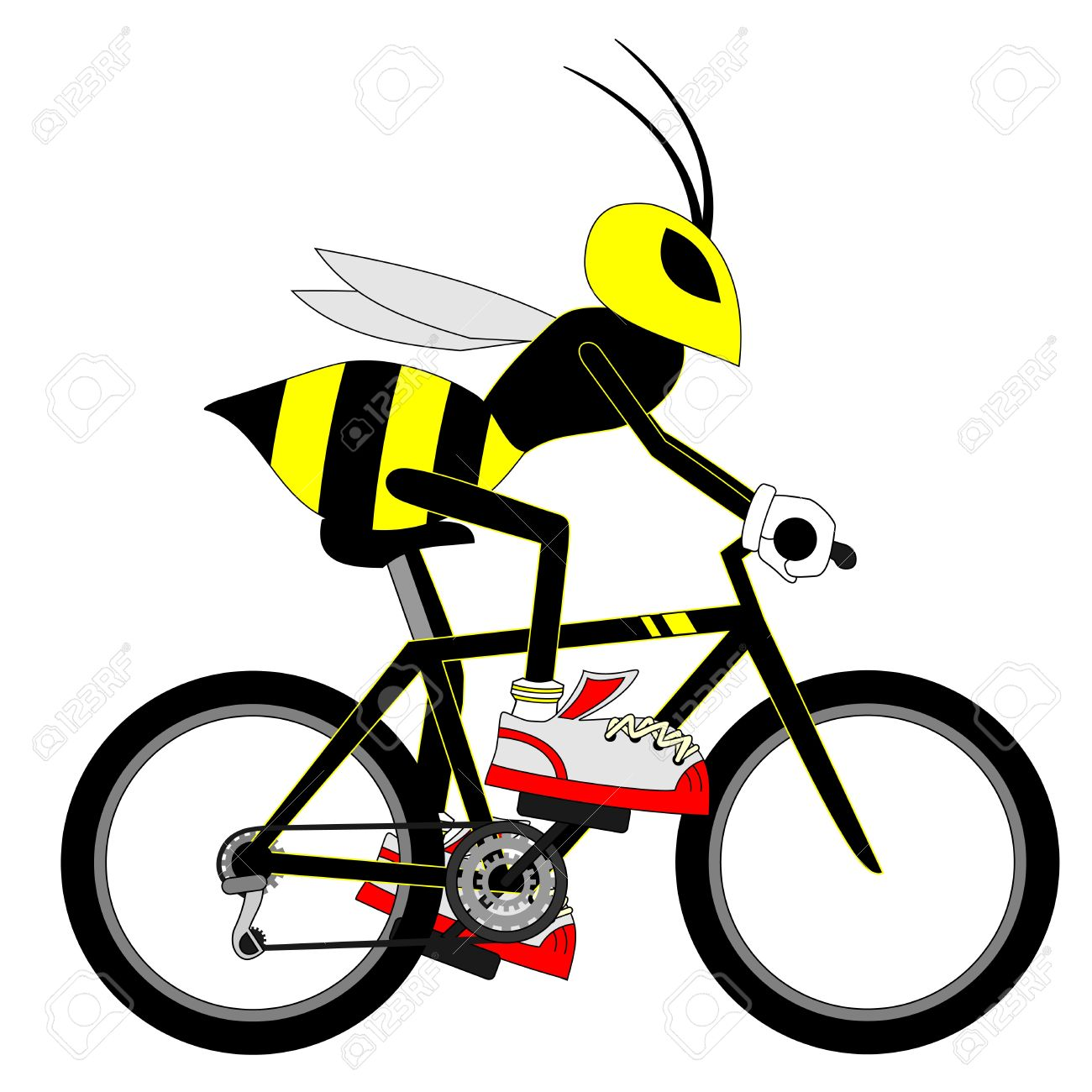 Wasp bike Stock Vector - 17265258