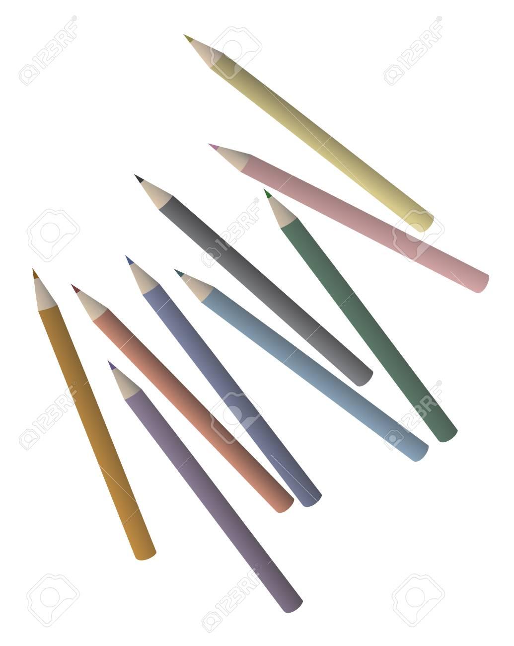 Creative color pencils Stock Vector - 17345994