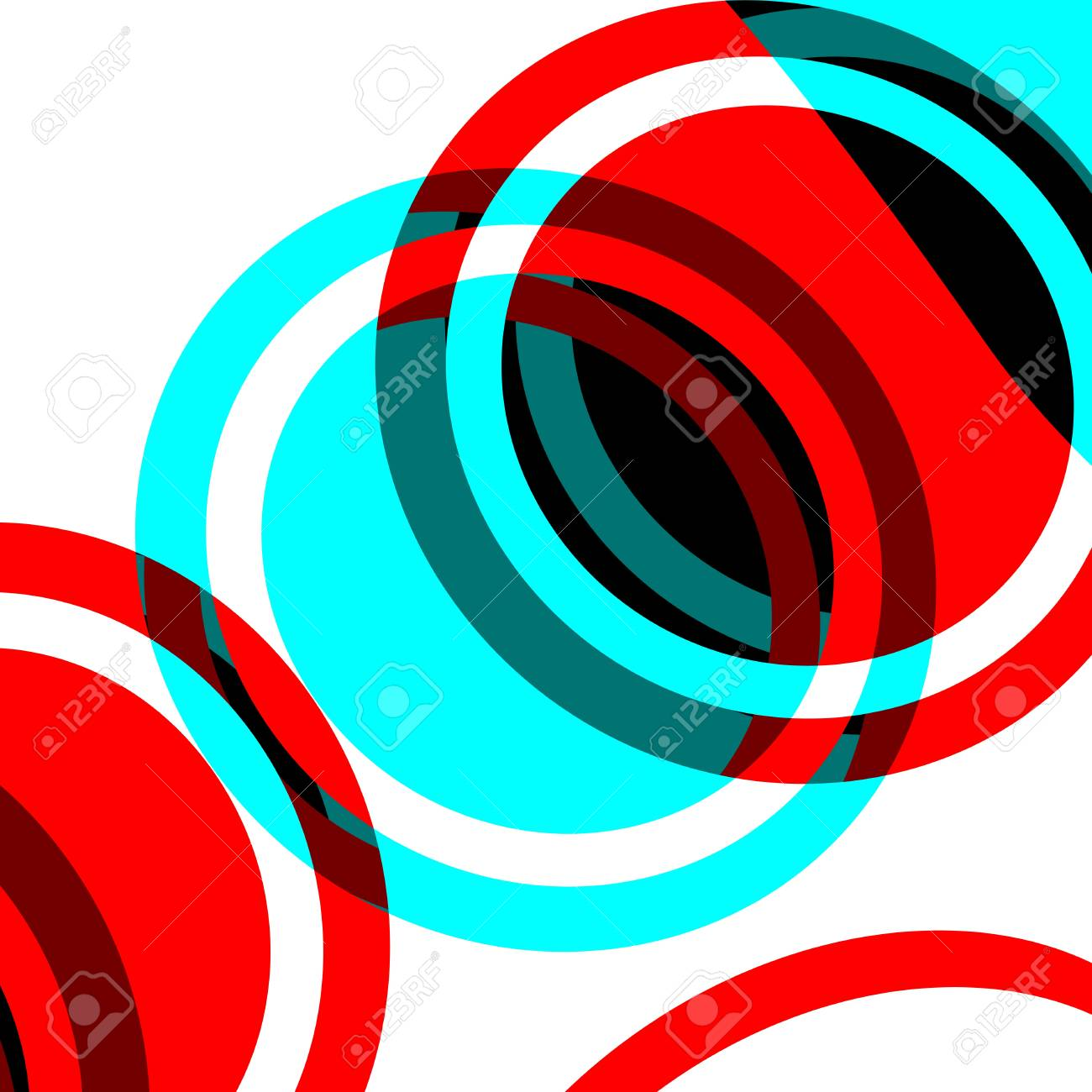 Circles art wallpaper Stock Vector - 17509393