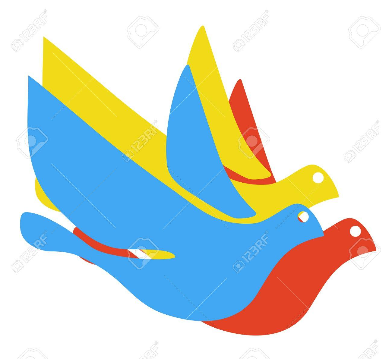 Color fly dove Stock Vector - 17509497