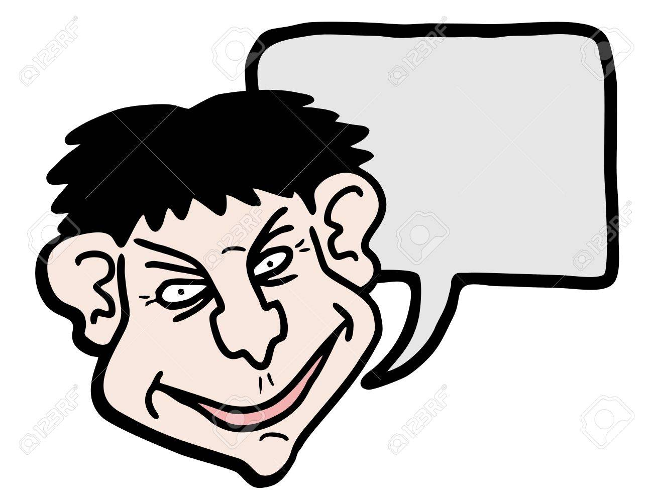 Funny face talking Stock Vector - 17509465