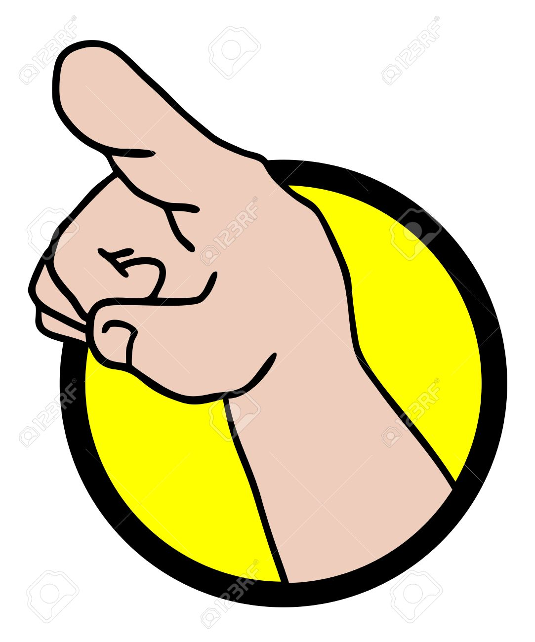 Finger hand icon Stock Vector - 17618539