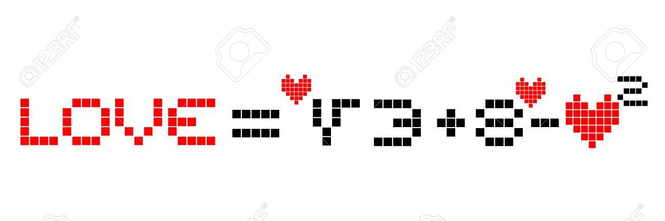 Math love design Stock Vector - 17701141
