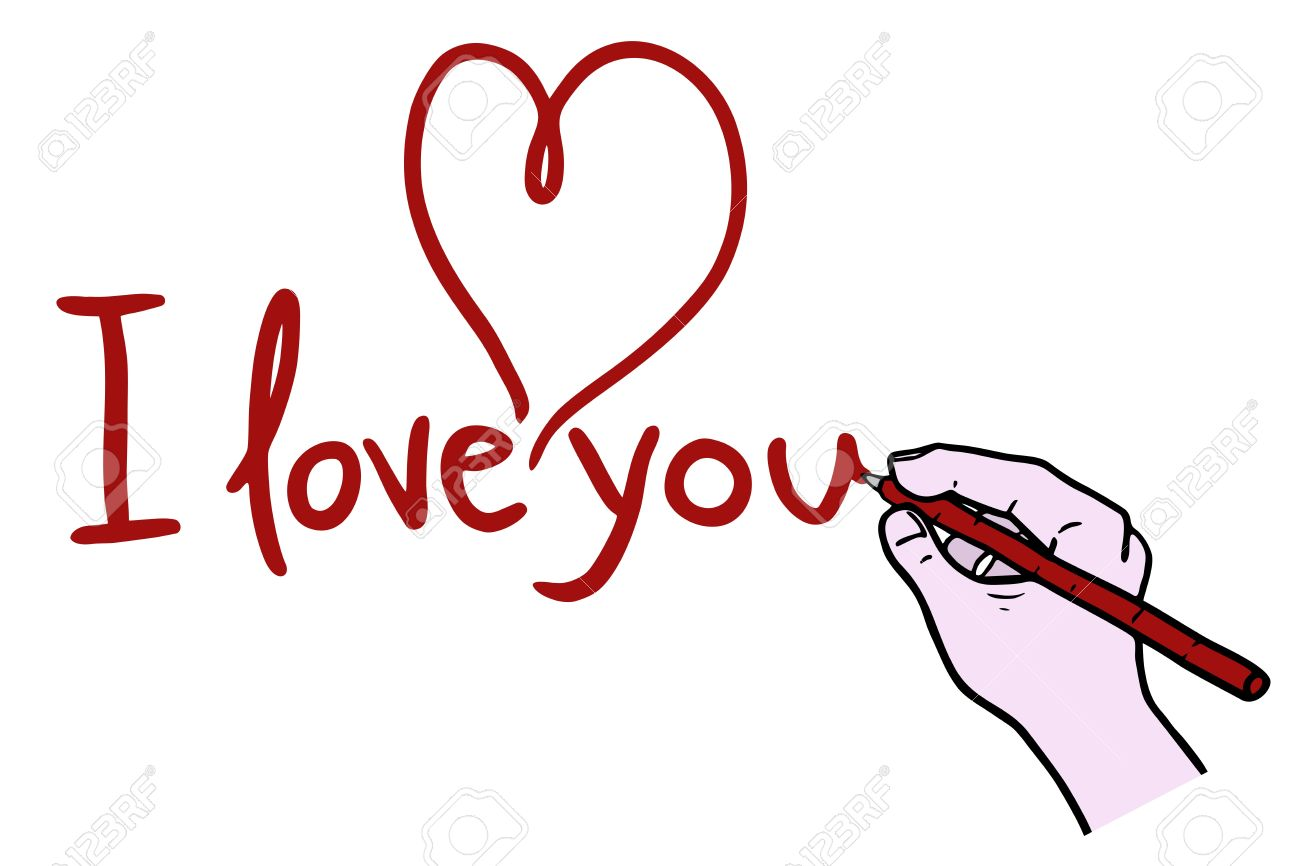 I Love You Drawing Royalty Free Cliparts Vectors And Stock