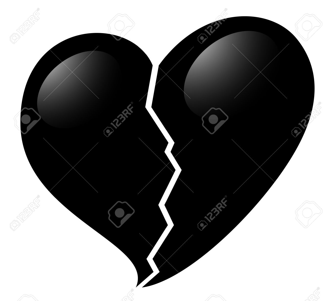 Broken Heart Icon Royalty Free Cliparts, Vectors, And Stock ...