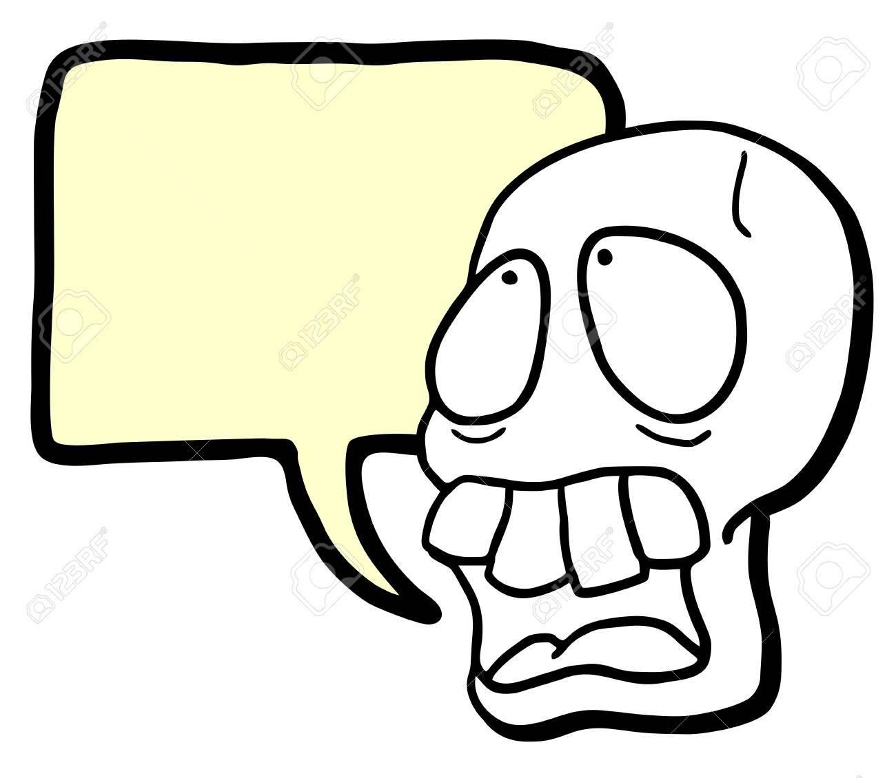 Skull talking Stock Vector - 17946373