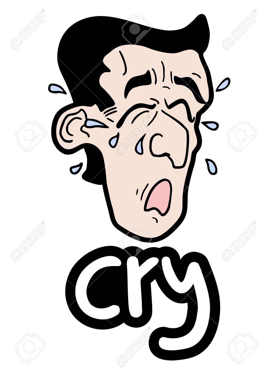 Cry draw man Stock Vector - 18498788