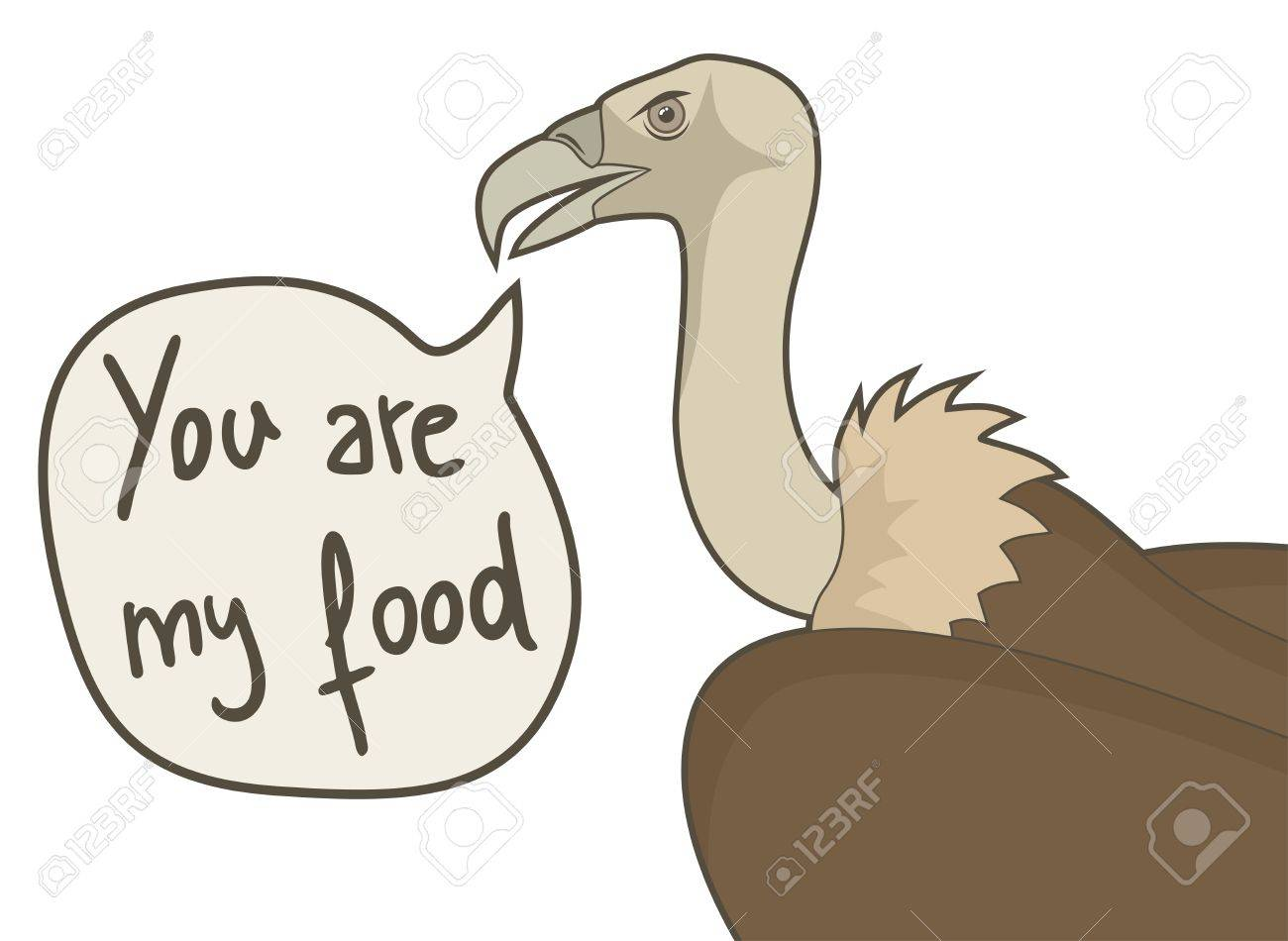 You are my food Stock Vector - 18498322