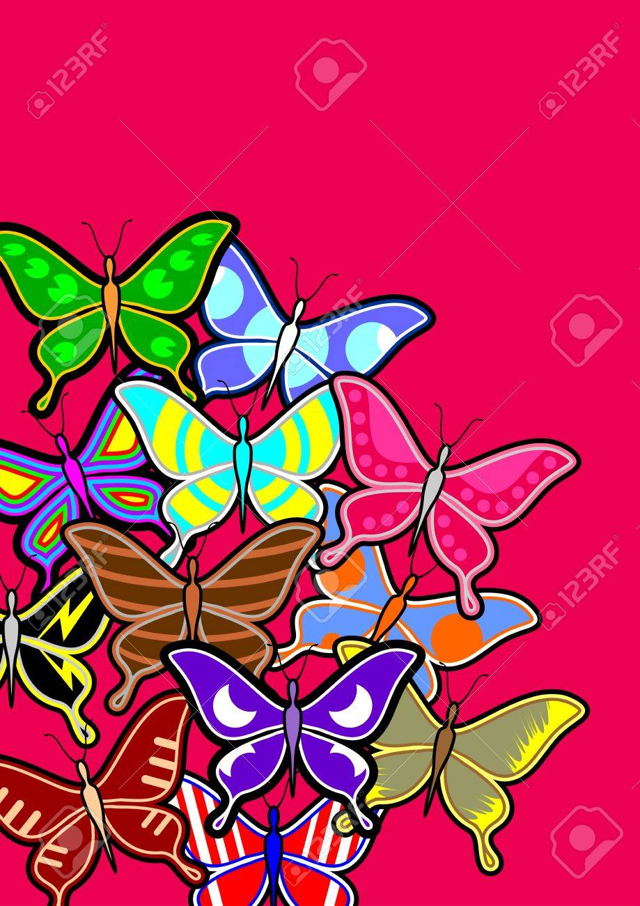 Butterfly art background Stock Vector - 18633346