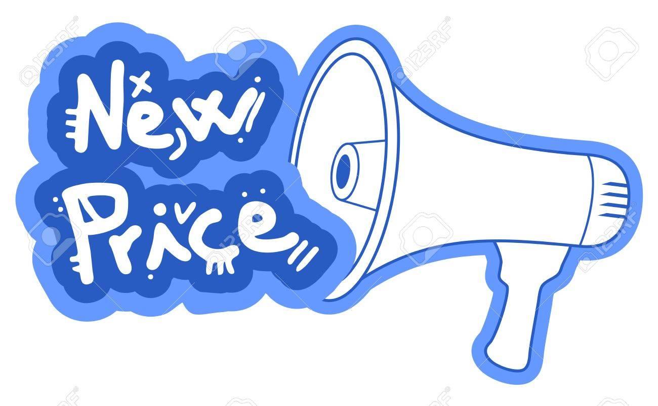 New price megaphone Stock Vector - 18850669