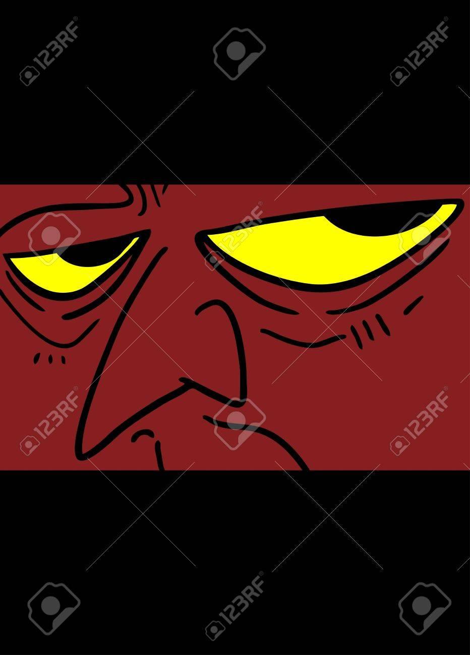 Demon face Stock Vector - 19200713