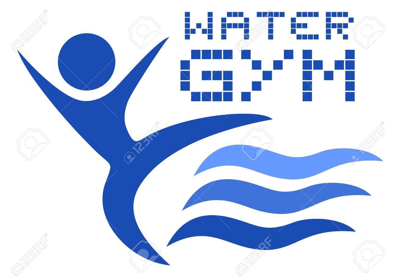 Water gym logo - 19145629