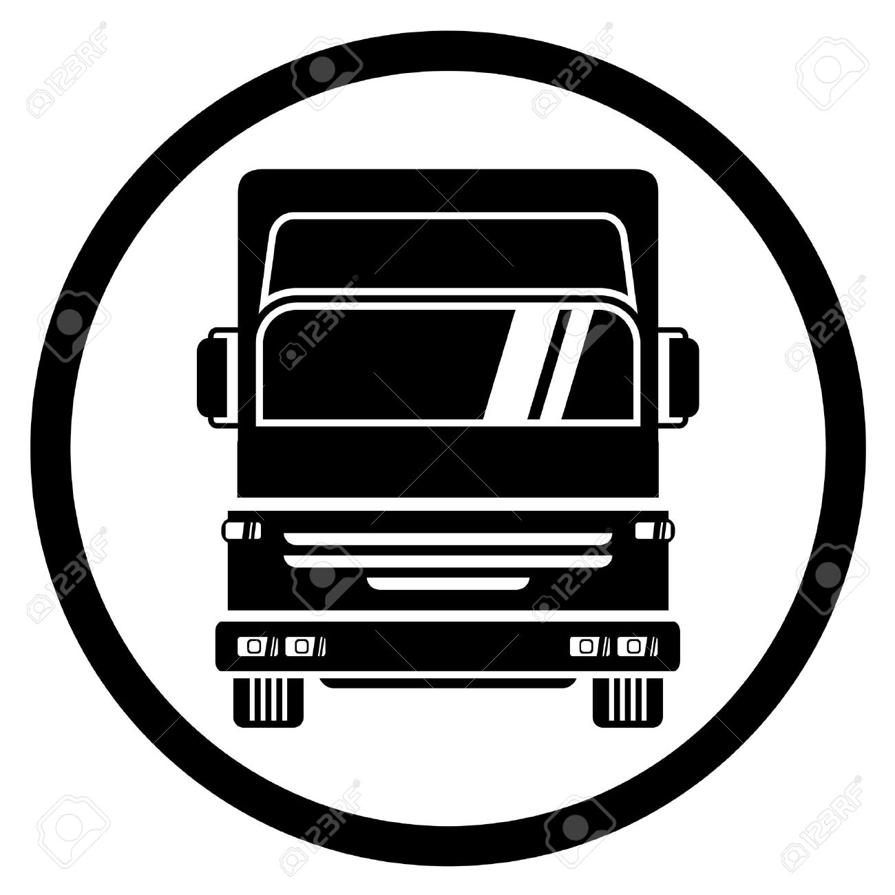 truck icon royalty free cliparts vectors and stock illustration