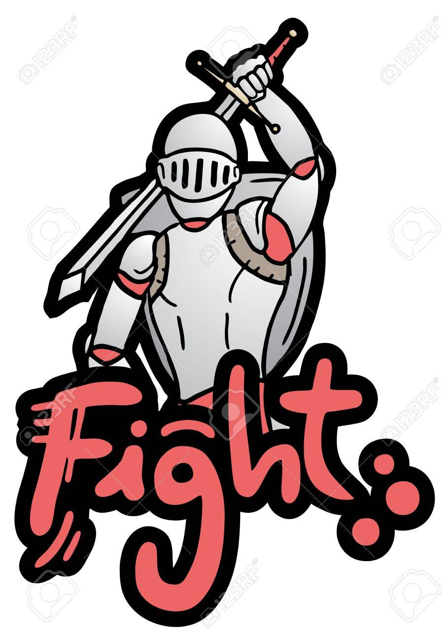Fight draw Stock Vector - 19453155