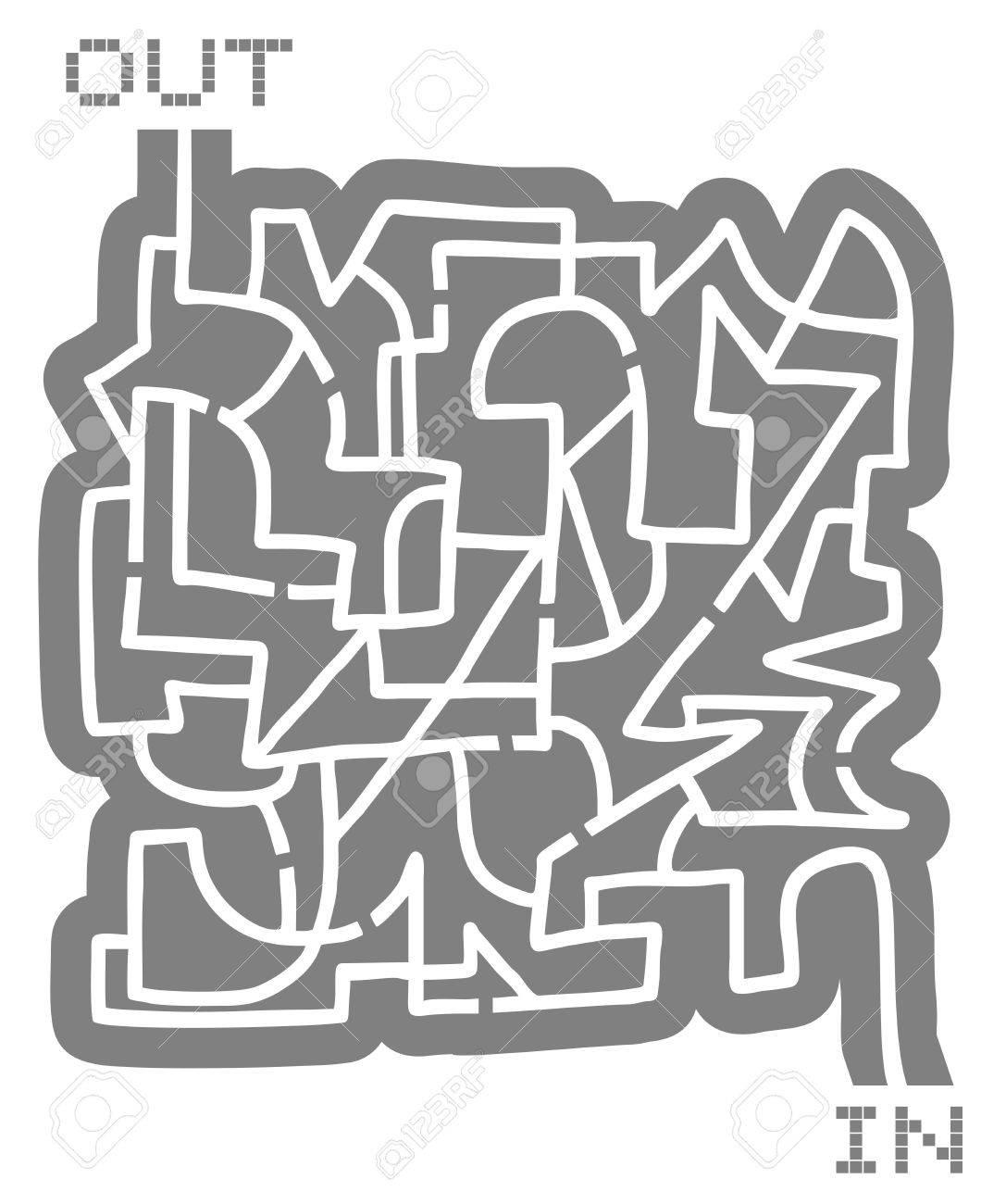 Creative maze Stock Vector - 19858394