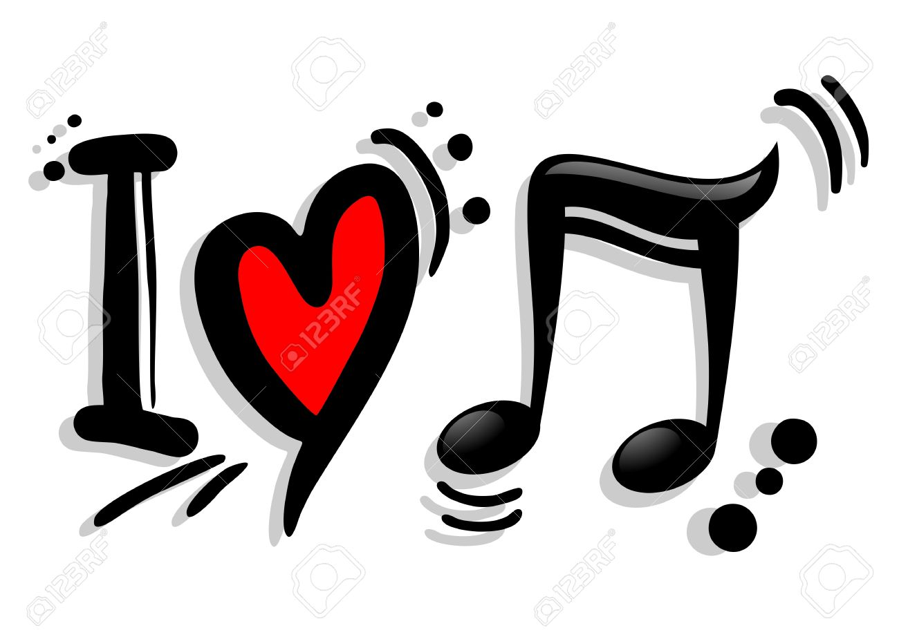 I love music symbol royalty free cliparts vectors and stock i love music symbol stock vector 19993638 buycottarizona Gallery