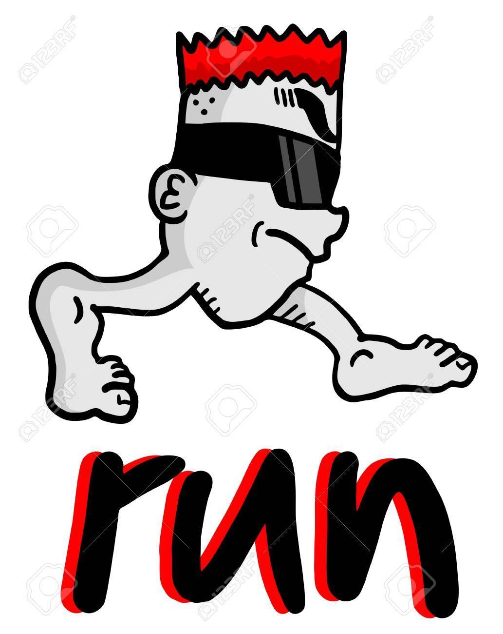 Run puppet Stock Vector - 21148816