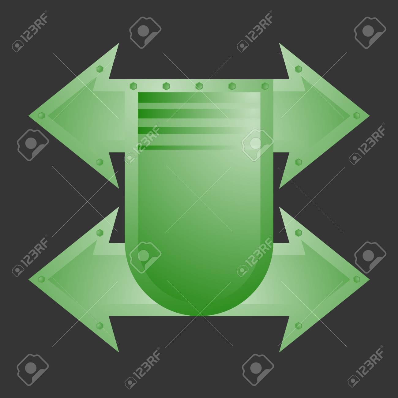 Green emblem Stock Vector - 21433439