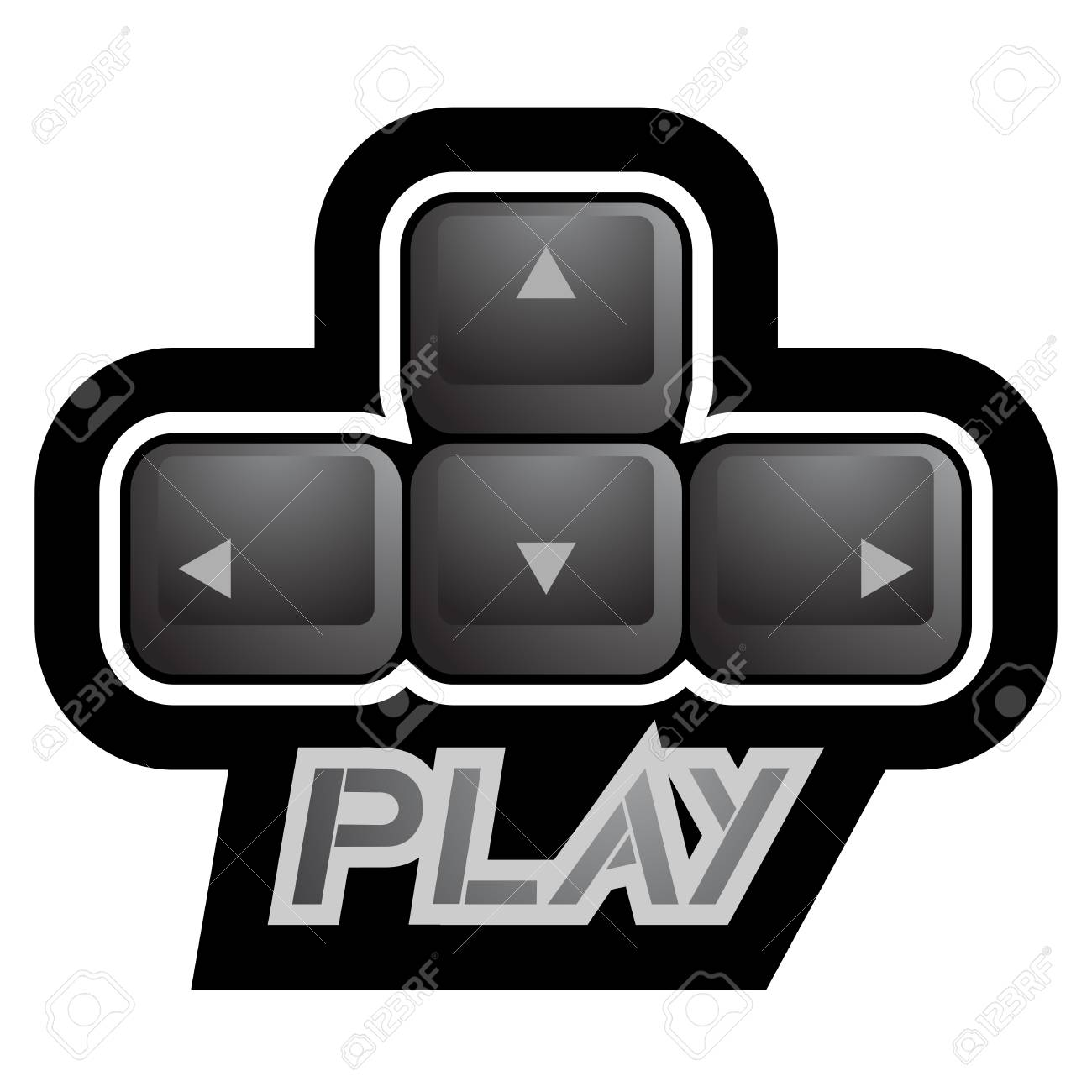 Play key symbol Stock Vector - 22394157