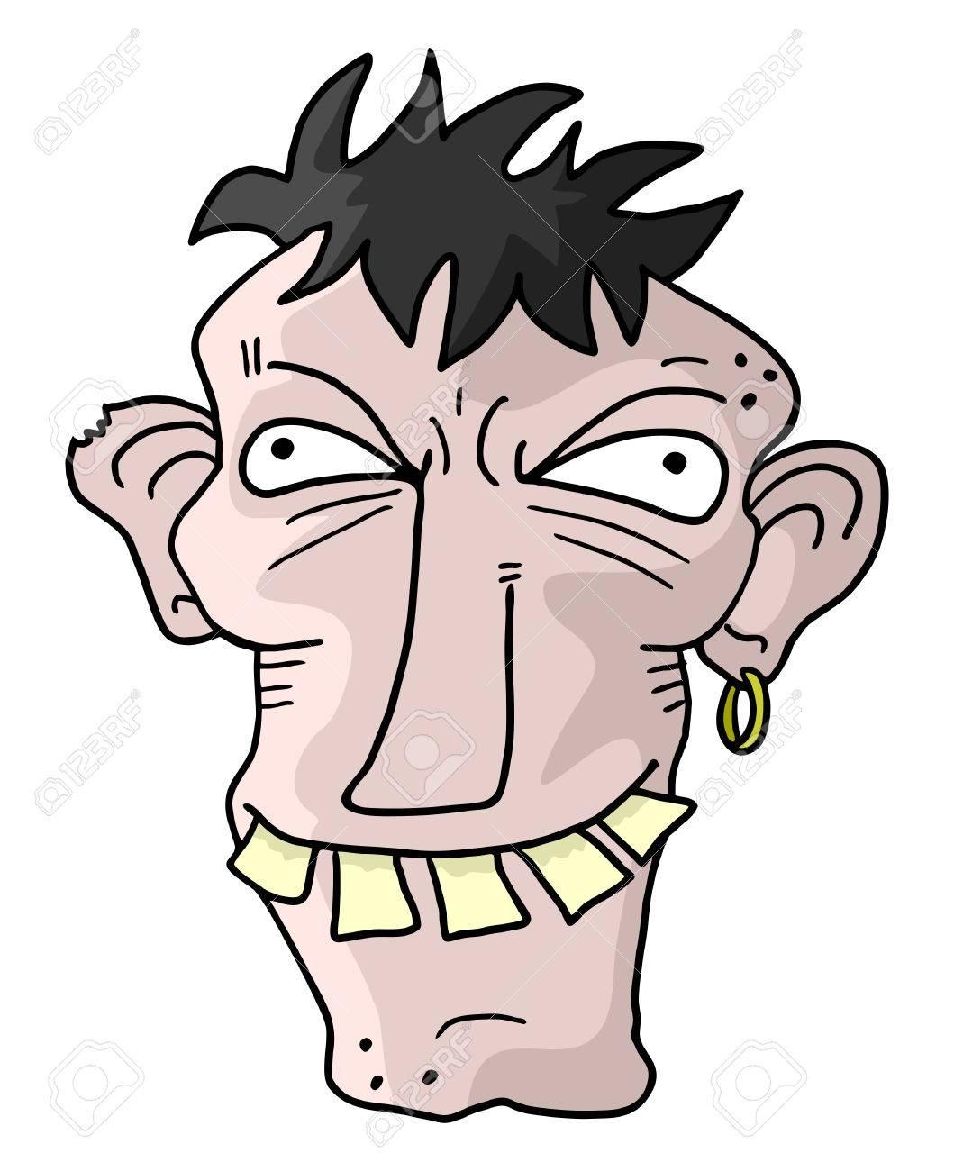 Lustig hässlicher mann Linkshander umerziehen