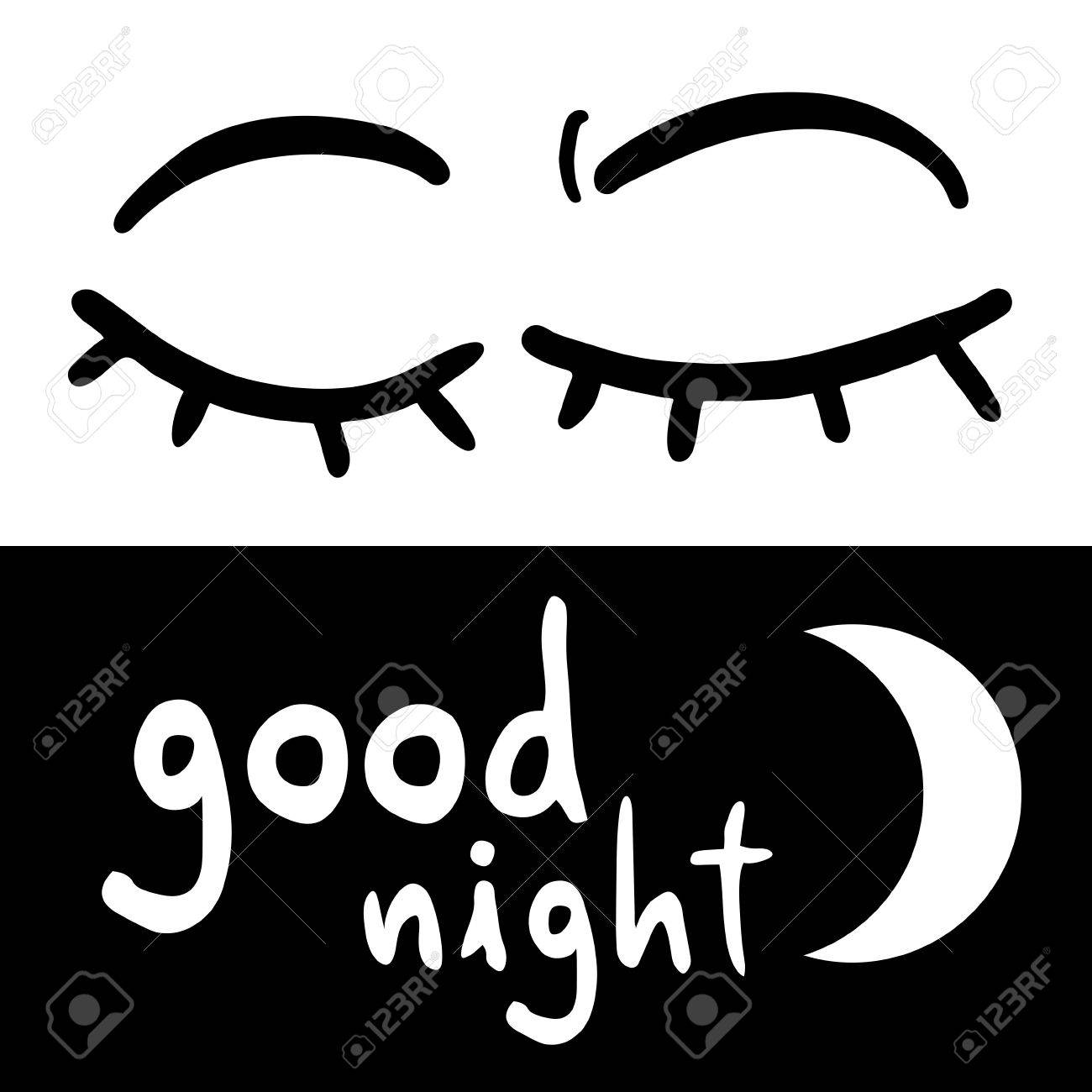 Good Night Symbol Royalty Free Cliparts Vectors And Stock