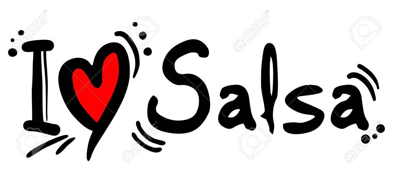 Salsa love word on white - 36088103