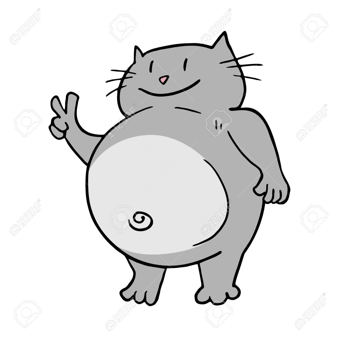 funny fat cat royalty free cliparts vectors and stock illustration rh 123rf com