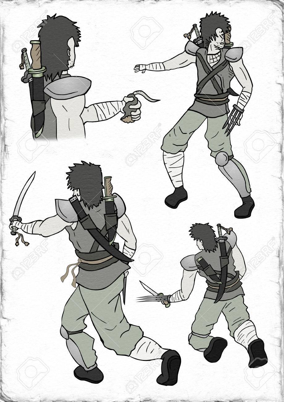 武士の戦士のイラスト の写真素材画像素材 Image 74577525